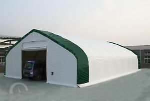 Suihe 40x80x22 Double Truss Canvas Fabric Tarp Storage Building Shop Metal Frame