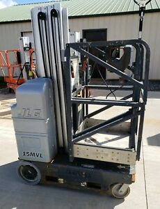 2010 Jlg 15mvl Electric Driveable Manlift Drive Scissor Lift 21 Working Height