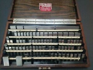 Calibrated Starrett Webber Gage Block Set Gauge 4 1005 Machinist Metrology