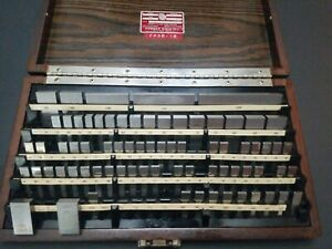 Starrett Webber Gage Block Set Gauge 4 1005 Machinist Metrology
