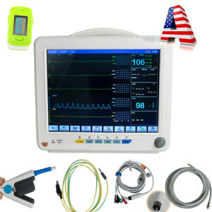Hot 12inch Medical Patient Monitor 6 parameter Icu Ccu Vital Sign Machine spo2