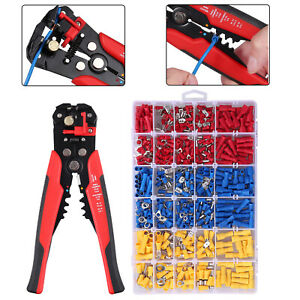 Wire Crimper Cutter Striper Stripper Pliers 500pcs Crimp Terminals Connectors
