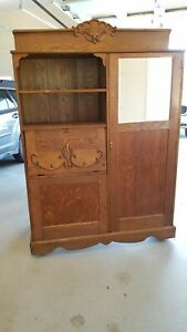 Antique Murphy Bed 1886 Era Great Condition All Parts And Weights