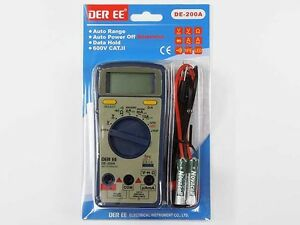 New Auto Range Digital Multi Tester Der Ee Electrical De 200a
