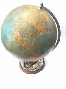 Old Vintage Illuminated Globe 1 38600000 Made In Germany 60s