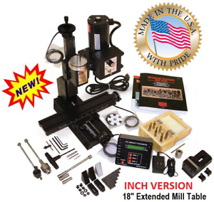 Sherline 5400a dro Inch Mill Package A 18 Extended Table Oil Reservoirs
