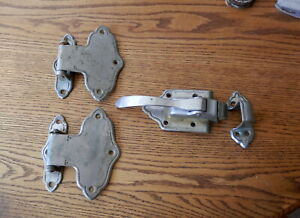 Antique Walk In Cooler Hinges And Latches Art Deco Vintage