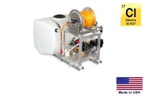 Sprayer Commercial Skid Mounted 100 Gallon Tank For Use With Chlorine