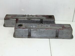 Severely Pitted M T Chevy Sbc 350 327 383 Valve Covers 3276000 Mickey Thompson