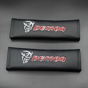 Premium Computer Embroidery Seat Belt Cover Shoulder Pad Fits Dodge Srt Demon