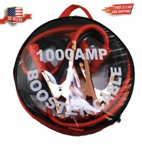 Heavy Duty 1000 Amp 6 Gauge Battery Power Booster Jumper Cable Wires W Case