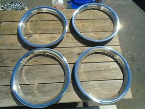 Aftermarket Stainless Steel 16 Trim Rings Set Of 4