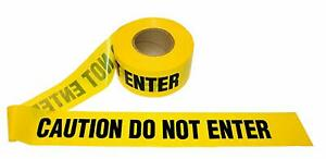 Caution Do Not Enter Tape 3in X 1000ft X 2mil Yellow black 8 Rolls Merco M234