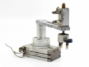 Smc Msqb30r a93 Pneumatic Actuator Rotary 190 With Robotic Arm