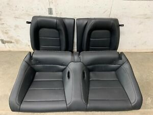 2018 2019 Mustang Gt Coupe Rear Seats Black Leather Oem