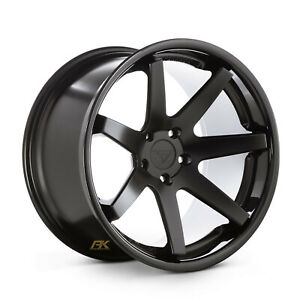 20x9 Ferrada Fr1 Matte Black Concave Wheels Rims 5x120 Et 35mm Single Wheel