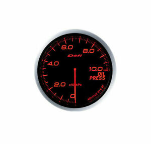 Defi Advance Bf 60mm Oil Pressure Gauge metric Red Df10202