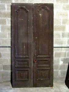 Antique Carved Double Entrance French Doors 47 X 96 Salvage