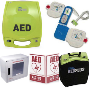Zoll Aed Plus Business Package Recertified Alarmed Wall Cabinet 3 d Sign