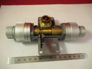 Leitz Germany Dialux Mechanism Stage Microscope Part Optics As Pictured