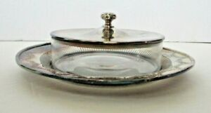 Antique Webster Silverplate Cheese Butter Caviar Dish Fancy Serving Bowl Vintage