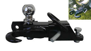 3 Way 2 Ball Hitch Tow Hook Receiver Trailer Tractor