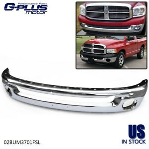New Front Bumper Chrome For Dodge Ram 1500 2500 3500 2002 2009 Ch1002383