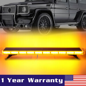 48 Inch 88 Led Amber Emergency Flashing Tow Truck Strobe Light Bar Response