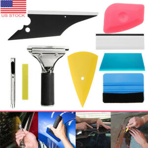 Pro 8in1 Car Window Tinting Film Install Tools Squeegee Scraper Kit Car Ussal