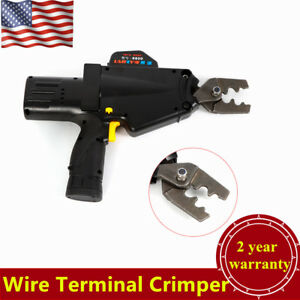 Electric Wire Terminal Crimper Plier Battery Patented Power Crimping 8 50mm Usa