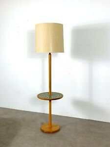 Vintage Mid Century Modern Floor Lamp End Table Martz Tile Marshall Studios 60 S