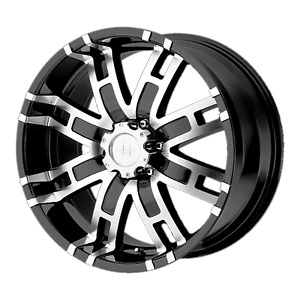 1 New 17x8 0 Helo He835 Gloss Black Machined 8x170 Wheel Rim