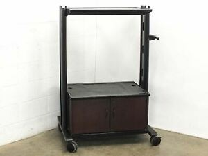 Mobile Av Cart For Crt Tv Presentations With Cabinets And 30 5 X 21 Surfaces