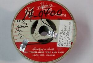 High Temp Wire 22 19 34 Blk ptfe Silver Plated Copper 200c 600v 194 Ft lg
