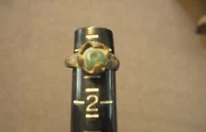 Ancient Roman Blue Glass Ring Authentic Rome Artifact B