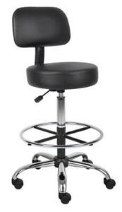 Drafting Stool With Back Cushion In Chrome Finish id 3428138