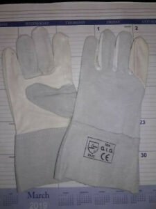 Tig Welding Gloves Premium Grey 4 Cuff Size Large 1 Dozen