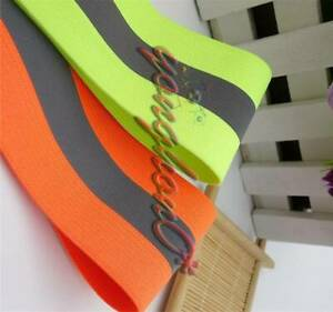 Reflective Tape Strip 50m Sew on Silver Lime Orange Fabric Safty Vest width 2