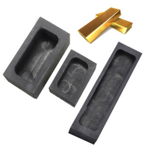 Single hole Graphite Casting Ingot Mold Refining Scrap For Copper Silver Gold