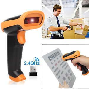 Automatic Usb Laser Scan Barcode Scanner Wireless Reader Black Handheld Stand