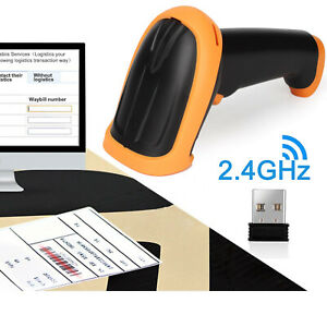 Laser Usb Wireless Bluetooth Barcode Scanner For Iphone Ios Android Phone 2 4g