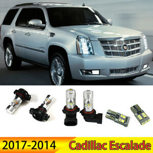 6 Daytime Running Fog Driving Light Led Bulbs Combo For 07 14 Cadillac Escalade
