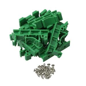 10pcs Pcb Din 35 Rail Adapter Circuit Board Mounting Bracket Holder Carriers