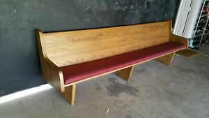 Church Pew Vintage Solid Oak Freestanding Very Good Condition