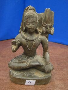 1900 S Antique Old Rare Hand Carved Stone Collectible Religious Vintage Shiva 13