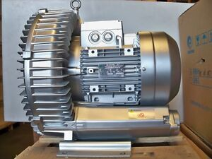 Regenerative Blower 6 1hp 221cfm 124 h2o Press 480v 3ph Goorui Ghbh 5d5 36 1r7