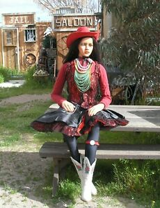 Cowboy Mannequin Life Size Pose Able Old West Saloon Girl Mannequin
