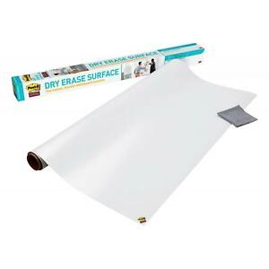 Dry Erase Board Surface Self Stick White Marker Wall Office School 8x4 Feet