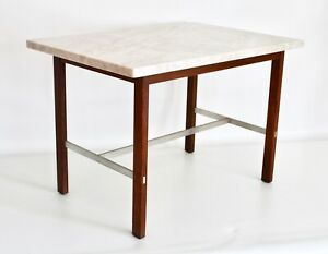 Paul Mccobb Vtg Mid Century Modern Marble Side End Table Calvin Planner Group
