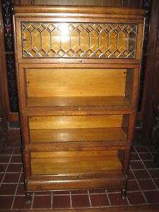 Antique Lawyers Bookcase Stacking W Drawer Lundstrom